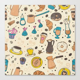 Spicy coffee Canvas Print