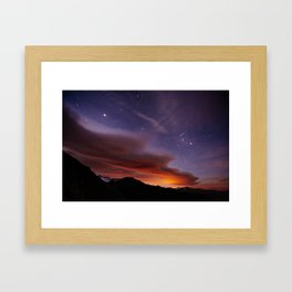 Nightscape at Furkapass Framed Art Print