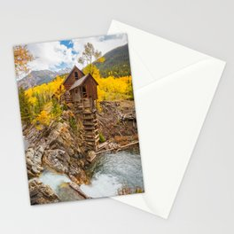 CRYSTAL MILL AUTUMN COLORADO LANDSCAPE PHOTOGRAPHY Stationery Cards