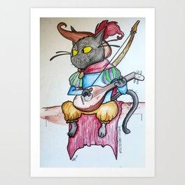 Bard Kitty Art Print
