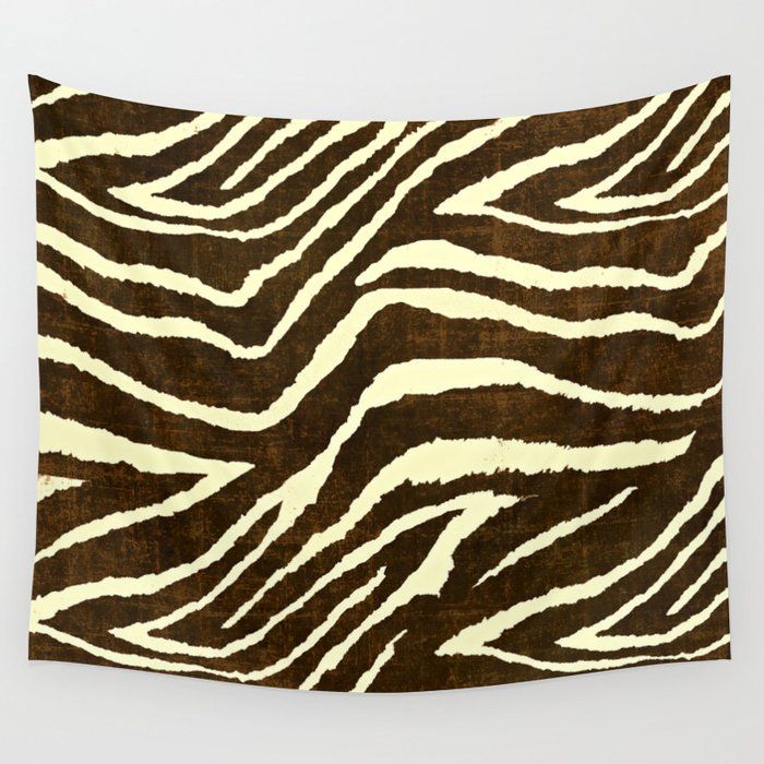 Image of: Wallpaper Animal Print Zebra In Winter Brown And Beige Wall Tapestry By Saundramyles Society6 Society6 Animal Print Zebra In Winter Brown And Beige Wall Tapestry By