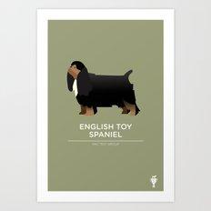 English Toy Spaniel Art Print
