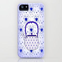 Blue Teapot iPhone Case