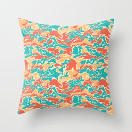 Hipster Camo Throw Pillow