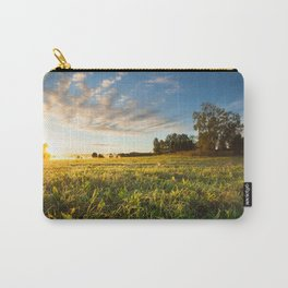 Serene landscape photo of meadow at sunrise Carry-All Pouch