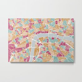 London map Metal Print