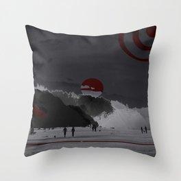 Time Walk Throw Pillow