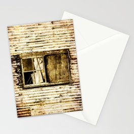 Window in a tin wall Stationery Cards
