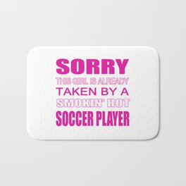 Taken by a Soccer Player Bath Mat