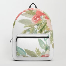 Loose Boho Watercolor Florals Backpack