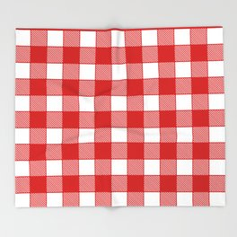 Buffalo Check - black / red Throw Blanket