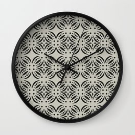 Moroccan Tile Surface Pattern Wall Clock