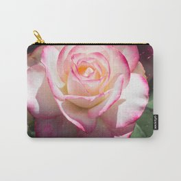 Pink and White Rose with a little magic Star Dust Carry-All Pouch