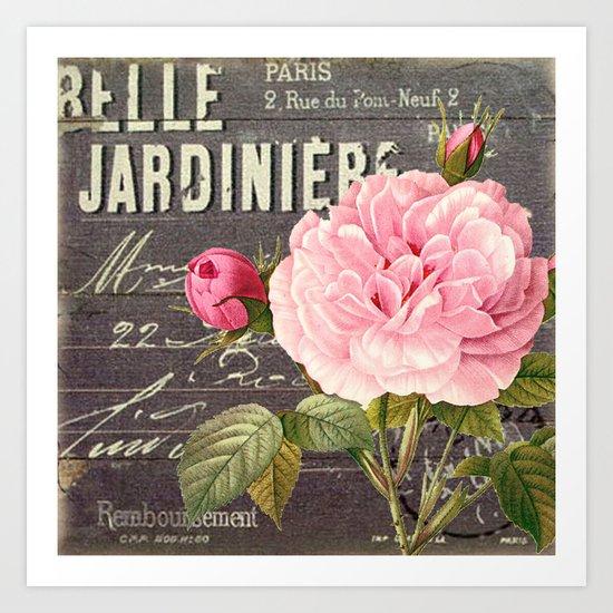 Vintage roses #1 Art Print