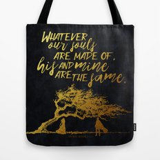 Wuthering Heights - Souls - Gold Foil Tote Bag
