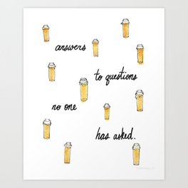 Presumptuous Presciption Art Print