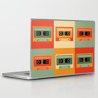 cassette Laptop & iPad Skins featuring cassette by vitamin
