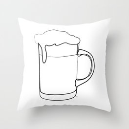 """ Kitchen Collection "" - Beer Mug Throw Pillow"