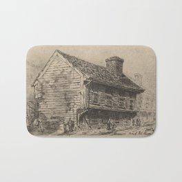 Vintage Illustration of Paul Revere's Home (1904) Bath Mat