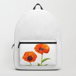 Two beautiful  poppies Backpack