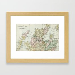 Scotland Vintage Map Framed Art Print