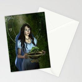 Virgo zodiac fantasy Stationery Cards