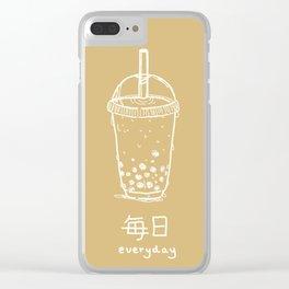 Bubble Tea/ Boba (mainichi) Clear iPhone Case