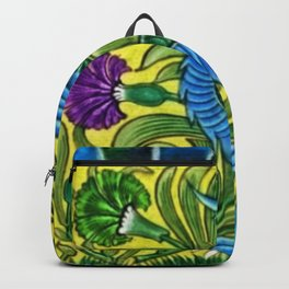 Dragon Portrait with Tulips and Calla Lilies Backpack