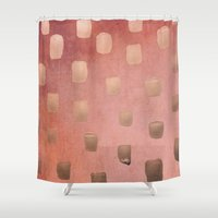 copper Shower Curtains featuring Copper Splotch by Lisa Argyropoulos