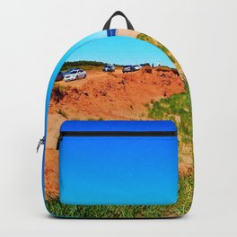 PEI Beach and Cliffside Parking Backpack