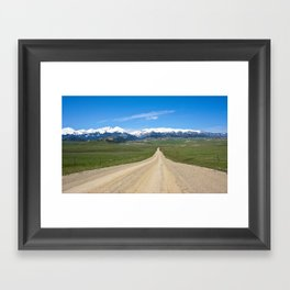 Old Country Road Framed Art Print