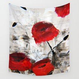 Sloppy Poppy Wall Tapestry