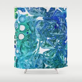Sea Leaves, Environmental Love of the Ocean Blue Shower Curtain