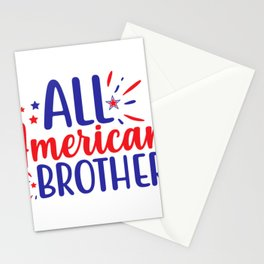 July 4th Memorial Day Labor Day Veterans Day All American Brother Stationery Cards