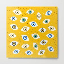 Nazar Eye Amulet pattern #4 Metal Print