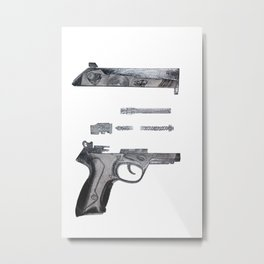 Cupid's Gun Metal Print