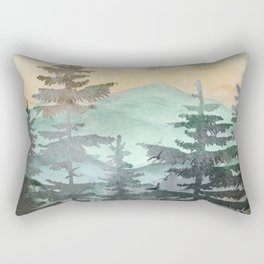 Pine Trees Rectangular Pillow