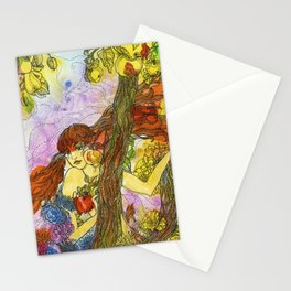Lady Autumn Stationery Cards