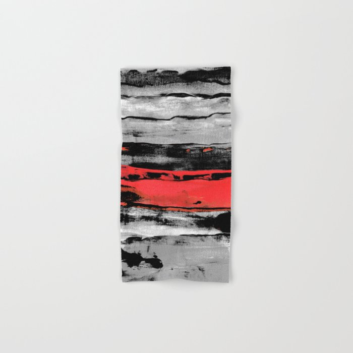 black & red Hand & Bath Towel