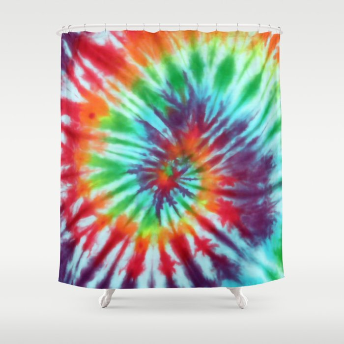 Tie Dye Hippie Shower Curtain