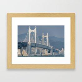 Gwangangdaegyo Suspension Bridge Framed Art Print