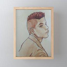Rami Malek Framed Mini Art Print