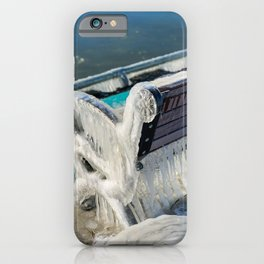 Cold day on Dunkirk Pier iPhone Case
