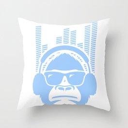 Gorilla DJ Throw Pillow