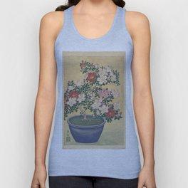 Blooming azalea in blue pot - Ohara Koson (1920 - 1930) Unisex Tank Top