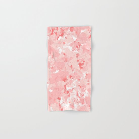 Grace - watercolor modern minimal abstract painting pink pastel office decor Hand & Bath Towel