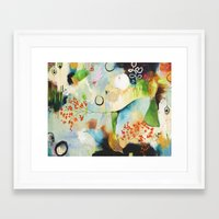 "flora bowley Framed Art Prints featuring ""Rainwash"" Original Painting by Flora Bowley by Flora Bowley"