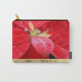 Mottled Red Poinsettia 2 Happy Holidays S2F1 Carry-All Pouch