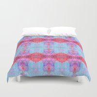 drums Duvet Covers featuring Drums and Parasols by SHI Designs