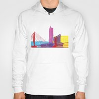 manchester Hoodies featuring Manchester skyline pop by Paulrommer